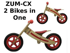 ZUM-CX Wooden Balance/Push Bike - New - Childrens/Kids