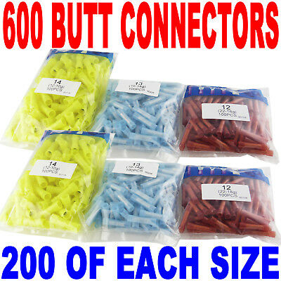 (600) Wire Butt Connectors Red/Blue/Yellow Nylon 200 ea on Rummage