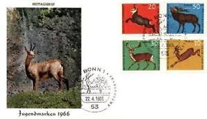 Germany 1966 FDC 511-14 Animals Pets Tiere - Dabrowa, Polska - Germany 1966 FDC 511-14 Animals Pets Tiere - Dabrowa, Polska