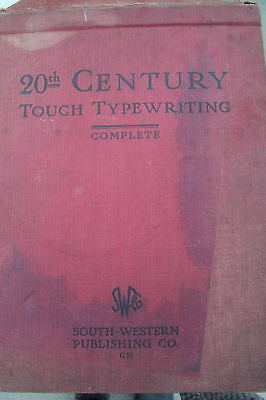 Vintage 20Th Century Touch Typewriting Book