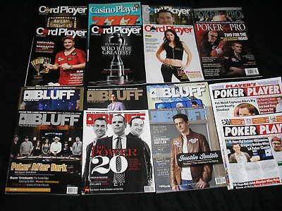 THIRTY 30 Different Mint POKER Casino Magazines Card Player Bluff Ante Up  on Rummage