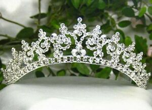 SEXY-AUSTRIAN-CLEAR-RHINESTONE-CROWN-TIARA-W-HAIR-COMBS-BRIDAL-WEDDING-T301S