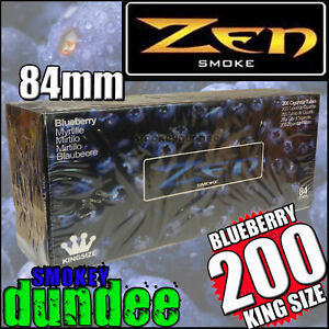 200-ZEN-BLUEBERRY-Flavoured-King-Size-Cigarette-Tubes-Blanks-84mm