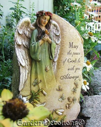 Angel Pet Person Memorial Stone Butterfly Garden Statue
