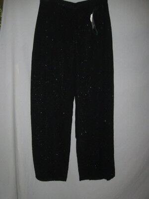 Jr Nites Sparkly Black Evening Pants W 4 Flaps S-10