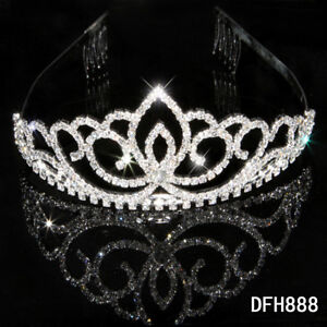 Bridal-Wedding-Princess-Pageant-Prom-crystal-tiara-crown-headband-0888