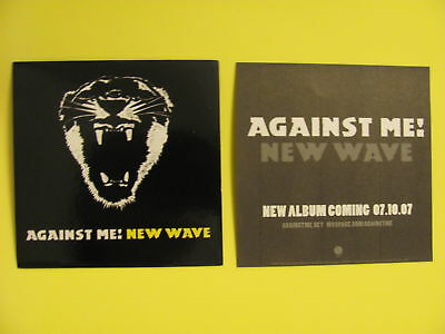 AGAINST ME ! NEW WAVE Case Board Car Rare NEW Sticker