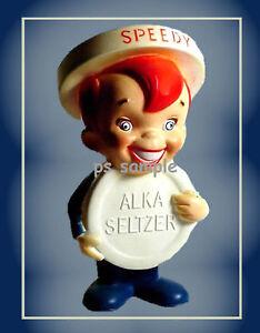 SPEEDY ALKA SELTZER - Vintage Ad - Fridge Magnet