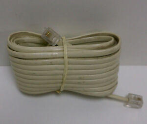 15-FT-PHONE-TELEPHONE-EXTENSION-CORD-CABLE-IVORY