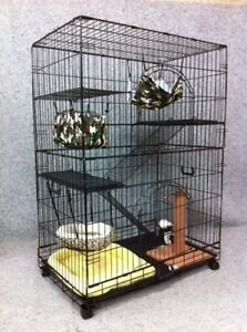 VEBO Collapsible 3-Level Cat / Ferret / Bird cage on wheels