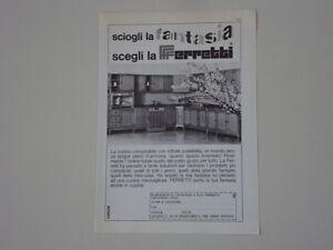 advertising pubblicita 1968 cucine ferretti