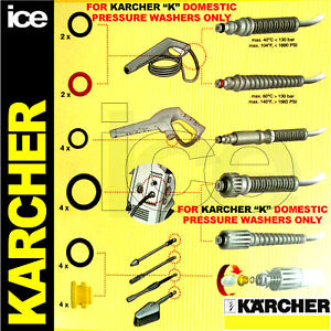 karcher k1 k2 k3 k4 k5 k6 k7 domestic pressure washer hose leak o ring seal kit ebay. Black Bedroom Furniture Sets. Home Design Ideas