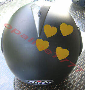4 sticker autocollant coeur reflechissant moto casque ebay. Black Bedroom Furniture Sets. Home Design Ideas