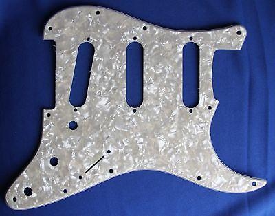 Fender Musical Instruments Corporation Fender Strat Guitar Pickguard Aged White Moto 11 Hole Musical Instruments
