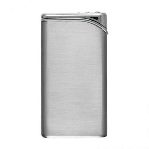 REFILLABLE SLIM SATIN GAS POCKET LIGHTER Mens Womens Gift 40% Off PERSONALISED
