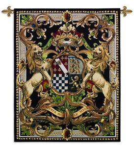 MEDIEVAL COAT OF ARMS CREST ART TAPESTRY WALL HANGING 2