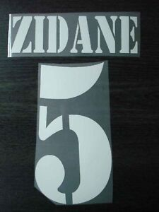ZIDANE #5 Real Madrid Away 2001-02 Name + Numbering
