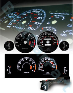 Black-95-99-Eclipse-N-A-AT-White-Indiglo-Glow-El-Gauges