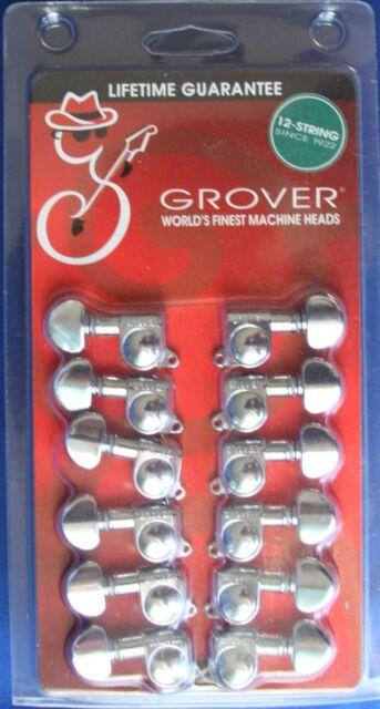 grover 12 string chrome guitar mini rotomatic machine heads tuner pegs 205c12 ebay. Black Bedroom Furniture Sets. Home Design Ideas