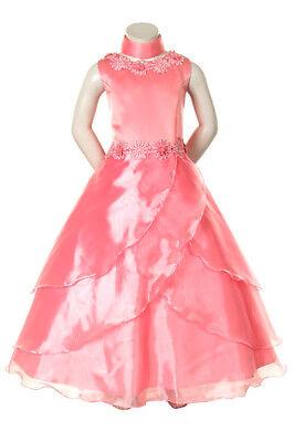 Girl Pink Dress Size 4 6 8 10 12 14 National Pageant Wedding Formal Recital
