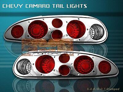1993 - 2002 Chevy Camaro Tail Lights Chrome 01 00 99 98 97 96 95 94