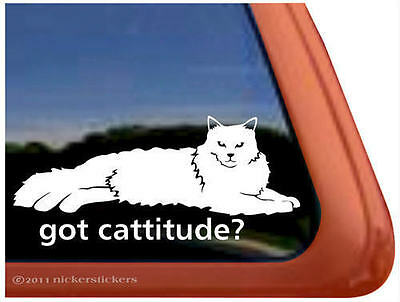 GOT CATTITUDE? ~  Ragdoll Cat Kitty Kitten Window Decal Sticker