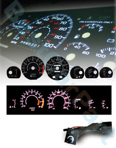 Black-86-92-Supra-NA-Non-Turbo-White-Indiglo-Glow-Gauge