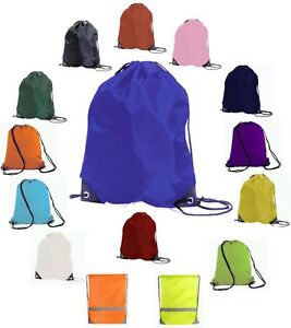 50-NURSERY-SCHOOL-WATER-RESISTANT-PE-BAGS-TEAM-GYM-GYM-SAC-SWIM-BACKPACK-NYLON