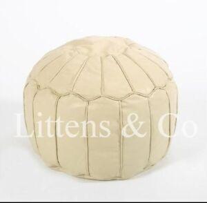 Cream-Leather-Moroccan-Footstool-Beanbag-Ottoman