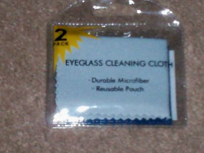 Eyeglasss Cleaning Cloths   Two  2  Really Soft Cloths In Each Package