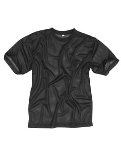 New MESH Top T-Shirt 100% Polyester BLACK
