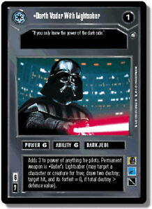 Star Wars CCG Darth Vader with Lightsaber EPP Rare Mint