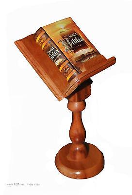 Very Nice Santa Biblia W/pedestal Miniature Book Reina Valera Full Version