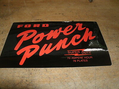 1950's Ford Thunderbird Galaxie Power Punch Battery Batteries Logo Decal Sticker