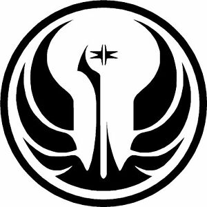 2x star wars galactic republic logo decal sticker - Republic star wars logo ...