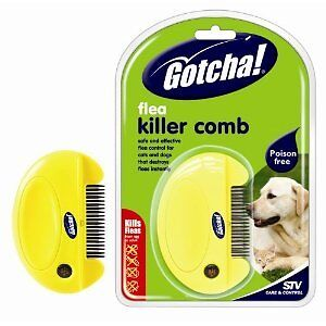 Gotcha Flea Killer Comb Dogs Cats Humane Poison Free