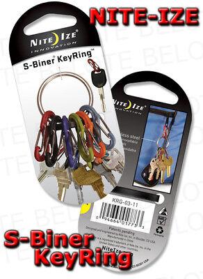 Nite Ize S-Biner BLACK KeyRing Dual Carabiner KRG-03-01