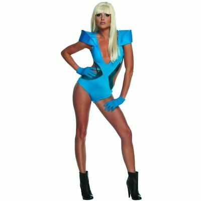 Womens LADY GAGA swimsuit Halloween costume POKER FACE SMALL 6-10 FREE (Lady Gaga Costume)