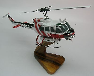 UH-1H Orange County Fire Helicopter Desktop Wood Model Regular Free Shipping for sale  Shipping to United States