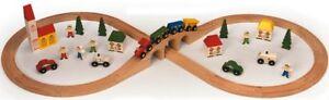 Childrens-46-Piece-Wooden-Toy-Railway-Train-Set-Brio-ELC-Compatible-Size-BNIB