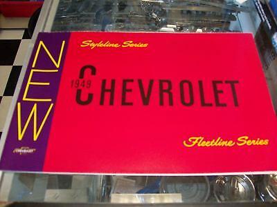 1949 Chevrolet Car Sales Catalog Color Must Have Item