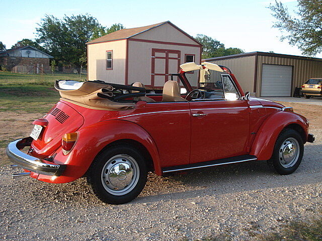 1974 VW Beetle Convertible Original Red, Restored, LOOK