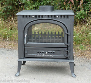 -DOUBLE-SIDED-Wood-Burning-Multifuel-Cast-Iron-Stove-Log-Burner-Fire