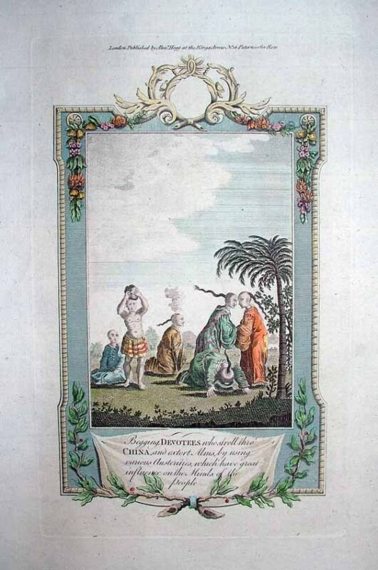 1784 Johan Nieuhof Engraving Begging Monks of China