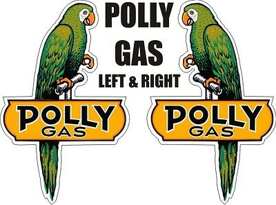 Vintage Polly Gas Station Bird Parrot Decal - The Best