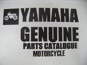 Yamaha genuine parts fiche manual 1981 yz125 yz 125 ebay for Yamaha parts fiche