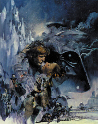 Star wars The empire strikes back #1 cult sci-fi movie poster print on Rummage