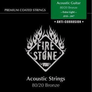 FIRE & STONE Gitarrensaiten, Acoustic Gitarre, Extra Light