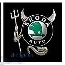 SKODA-Rear-logo-EMBLEM-3D-Devil-Demon-Sticker-Silver