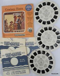 Vtg-1950-VIEWMASTER-REEL-x3-COWBOY-STARS-Pk-950-955-960